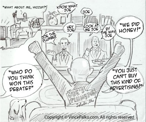 Political Debate Cartoon
